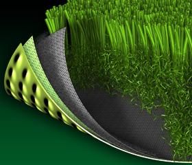 人造草坪剖面图