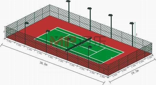 网球场灯光